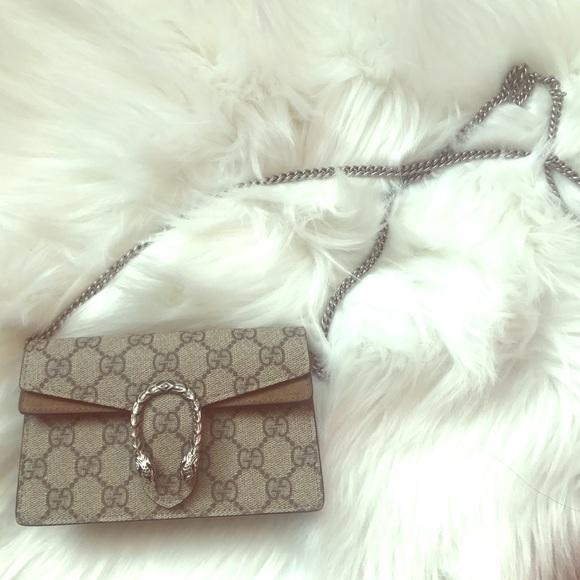 93f060dccee Gucci Bags | Dionysus Super Mini Wallet On Chain | Poshmark